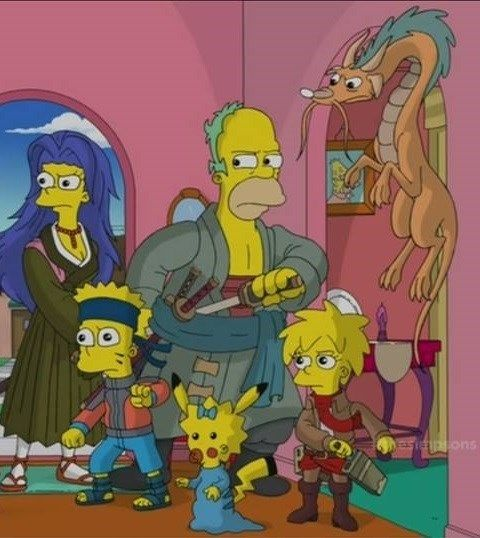 simpsons marge and bart porn