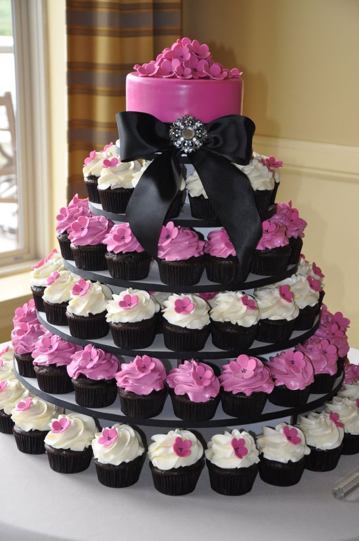 wedding cakes with cupcakes | Wedding cupcake tower