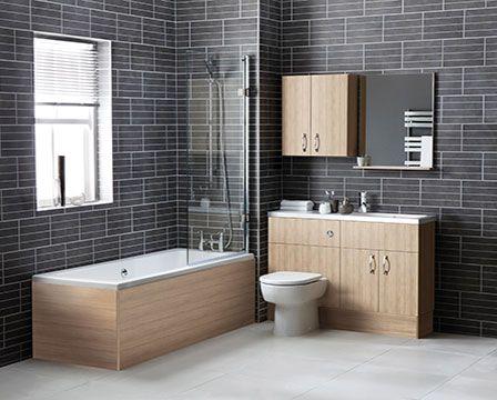 Image result for natural oak bathroom furniture