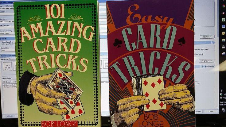 Lot Bob Longe Books 101 Amazing Card Tricks Easy Card Tricks Magic