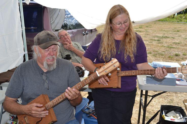 Vern & Sharon playing their new Thorne Custom Box Guitars