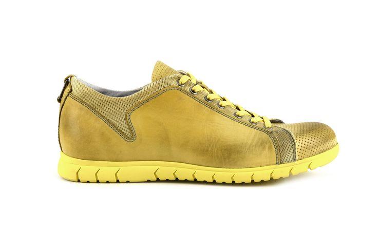 Sneakers in pelle di vitello e tessuto CafèNoir - Shoes, Bags and Accessories