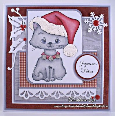 whimsy stamps / christmas card
