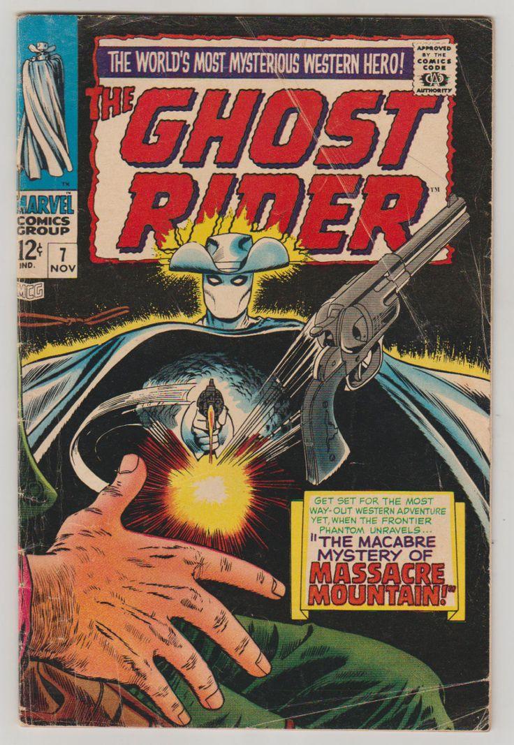 Ghost Rider; Vol 1, 7, Silver Age Comic Book. VG-. November 1967. Marvel Comics  #ghostrider #silveragecomics #comicsforsale