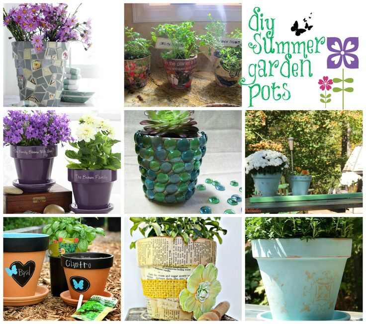 Garden Pot Ideas Decoration 66 Best Outdoors  Diy Pots Images On Pinterest  Gardening .