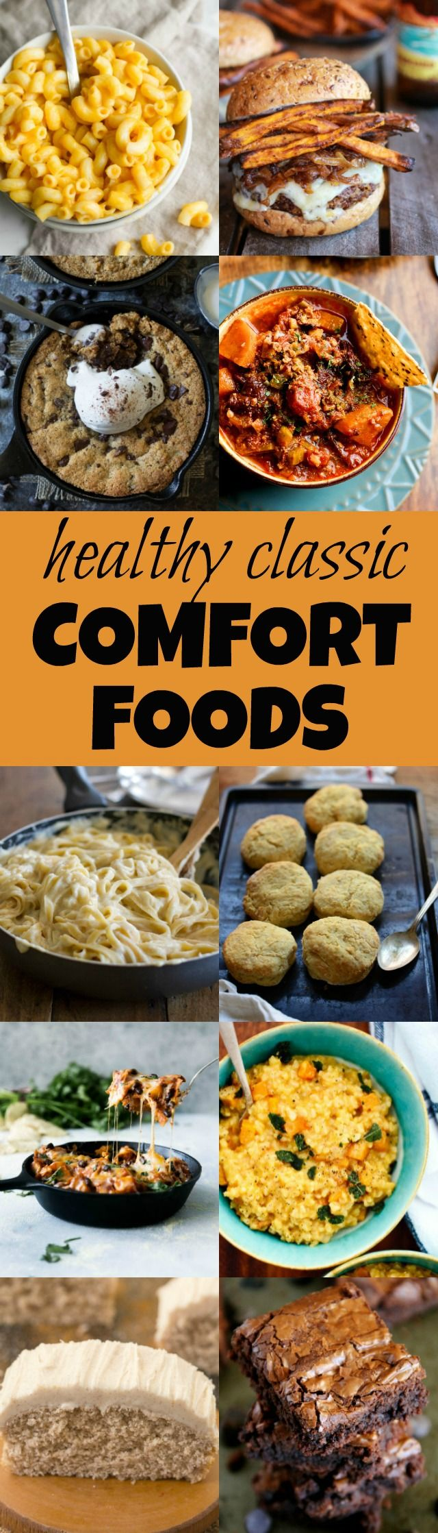 Eating healthy doesn't mean saying goodbye to your favourite comfort foods! These healthier versions of all the classics are great for both the body and soul | runningwithspoons.com