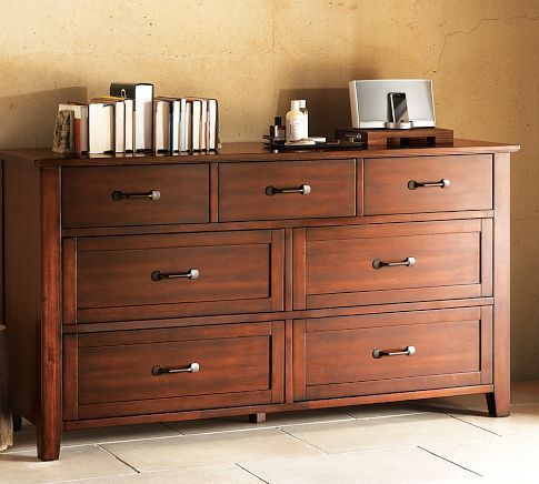 I would love a dresser like this to use as a dining room chest! Stratton Extra-Wide Dresser | Pottery Barn