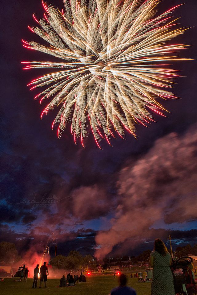 Canada Day 2014 Fireworks Shawville, Quebec Pontiac Event Photographer - Cindy Lottes Photography
