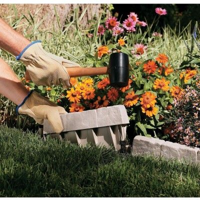 Border Stone Edging, $19.95/ea | Sporty's Preferred Living {Neat idea!}