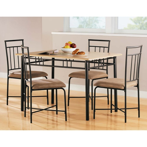 Mainstays 5Piece Wood and Metal Dining Set, Multiple