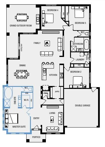 My Ideal Floor Plan Large Master Bedroom With Ensuite And Walk In Robe Open Plan Living 4