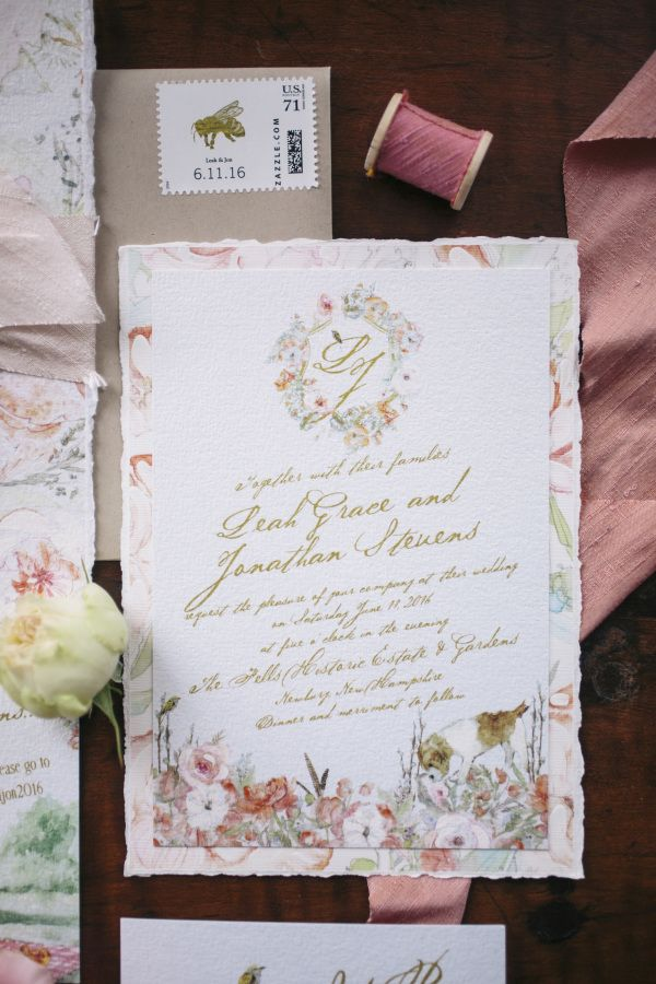 vintage country garden wedding invitations%0A A Beautiful Garden Party Filled with VintageInspired Details  Floral  Invitation SuitesInvitation DesignCustom Wedding