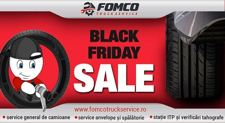Black Friday la FomcoTyres ține până la sfârșitul anului! Fomco Truck Service