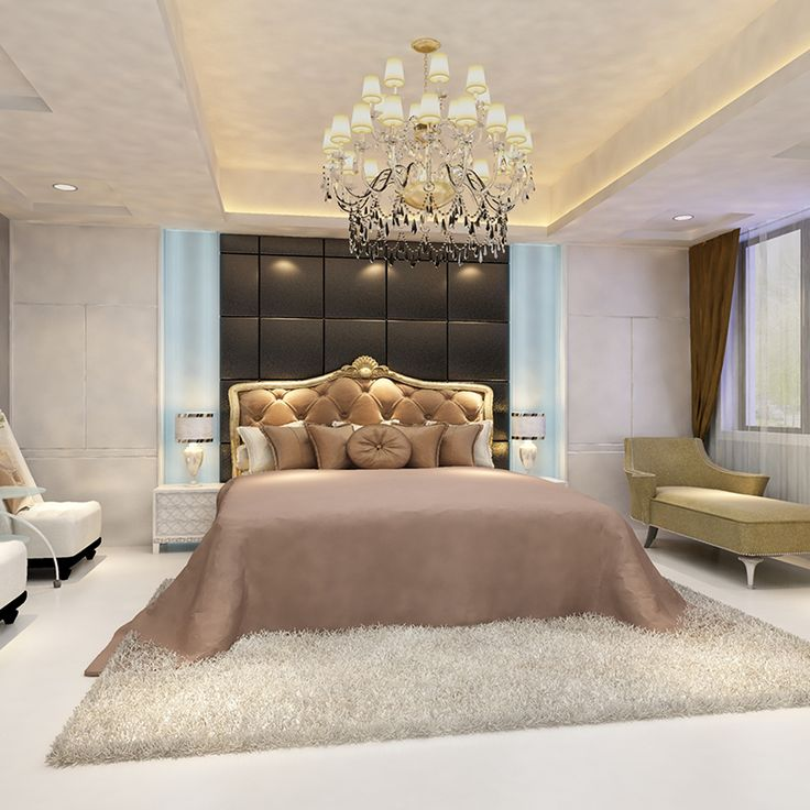 For adding elegance to your room, use marvelous lighting and place a fascinating lamp shade beside your bed.