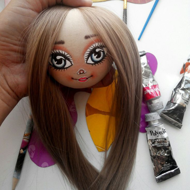 Process, fabric art doll, textile doll, art doll, cloth doll, gift,gift for her, interior doll, rag doll, tilda doll, doll for gift, doll with long hair, handmade doll