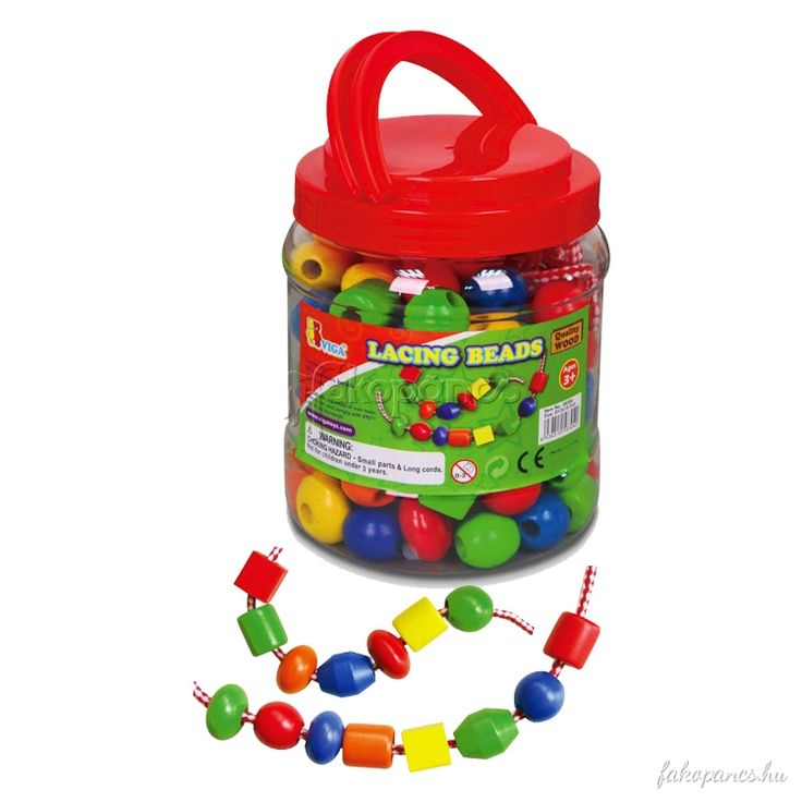 Gyöngyfűző játék különböző méretű fagyöngyökkel. Fejleszti a kreativitást és a kézügyességet.   Tartalom:            90 db különböző formájú és színű fagyöngy    Golyók átmérői: 1,5-2 cm