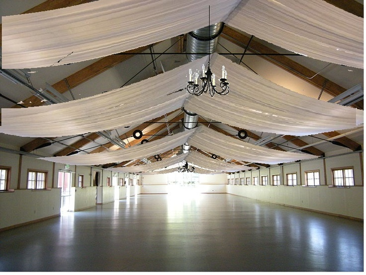 Pickering Barn With Ceiling Drapes Reception Wedding