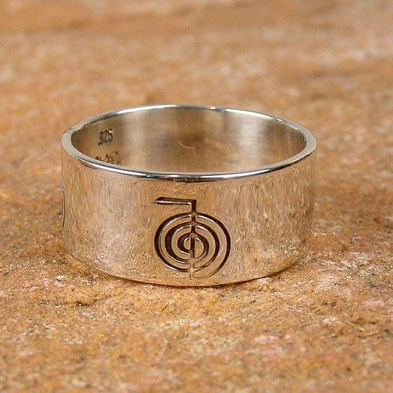 Reiki Energy Symbol Sterling Silver Ring