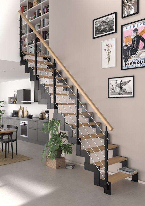 Escalier Duplex Avec Rampe Cubik Escalier Escaliers Interieur Escalier Droit
