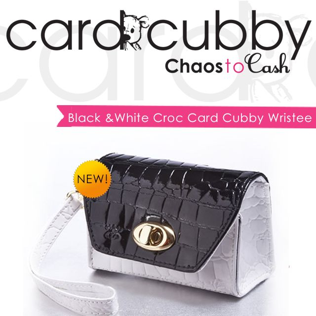 New Product: Black and White Croc Card Cubby Wristee! BUY IT: http://cardcubby.com/collections/card-cubby/products/black-and-white-card-cubby-wristee #cardcubby #card #cubby #creditcard #coupon #saving #money #wallet #purse #bag #giftcard #gift #shopping #ideas #tips