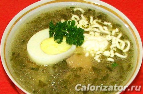 Суп щавелевый со свининой