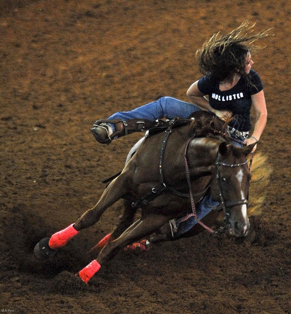 """barrel racing by markapino, via Flickr Now this is a """"COWGIRL""""!"""