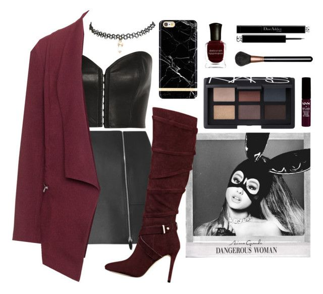 """Dangerous Woman"" by silviadarma on Polyvore featuring Wet Seal, Kiki de Montparnasse, Alexander Wang, Manon Baptiste, GUESS, NYX, NARS Cosmetics, MAC Cosmetics, Christian Dior and Deborah Lippmann"