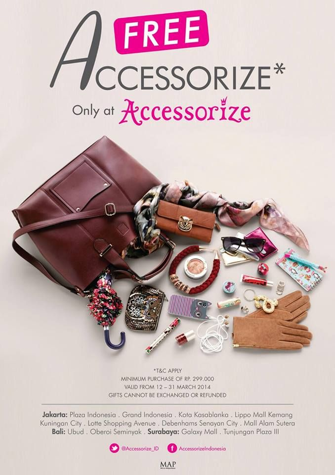 Shop at Accessorize - Kuningan City UG and be surprised with mystery gifts!