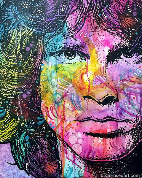 Pop Art Painting - Jim Morrison The End by Dean Russo