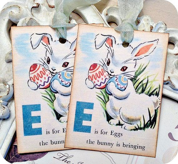 70 best easter images on pinterest easter gift easter treats and e is for eggs tags 6 favor tags shabby easter tags easter treat tags easter basket tags easter tags easter gift tags bunny tags flashcard negle Choice Image