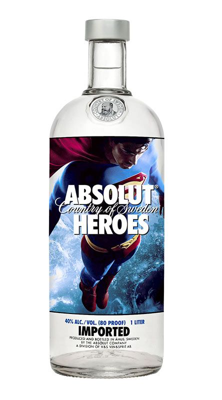 "Absolut Vodka ""Heroes"" Bottles by Deltobran , via Behance    OH MY GOD!!!!! @Sean Kellz BUY ME THIS FOR MY BIRTHDAY PLEEEEASSSEEE!!!!!!!!!!!!!"