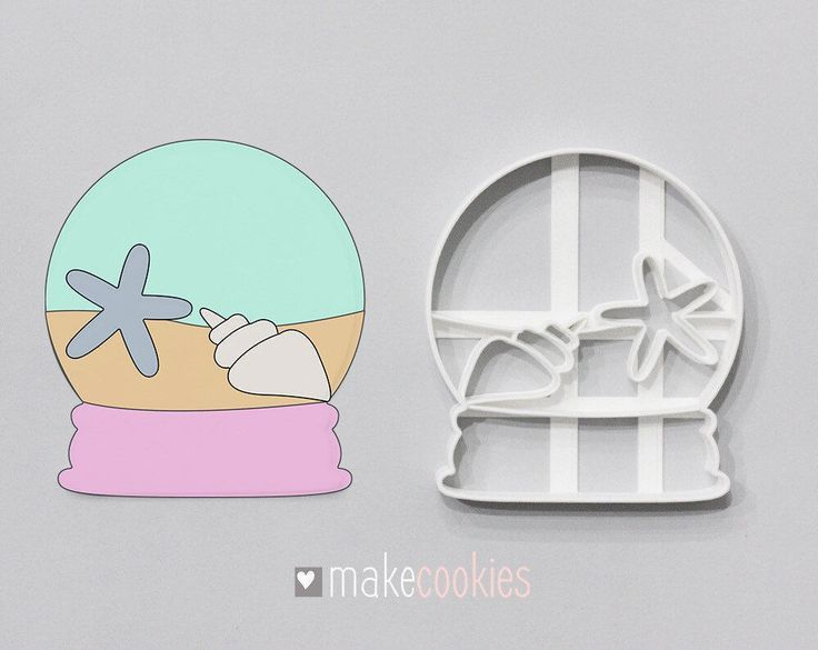 Snow Globe #5 Cookie Cutter by MakeCookies on Etsy