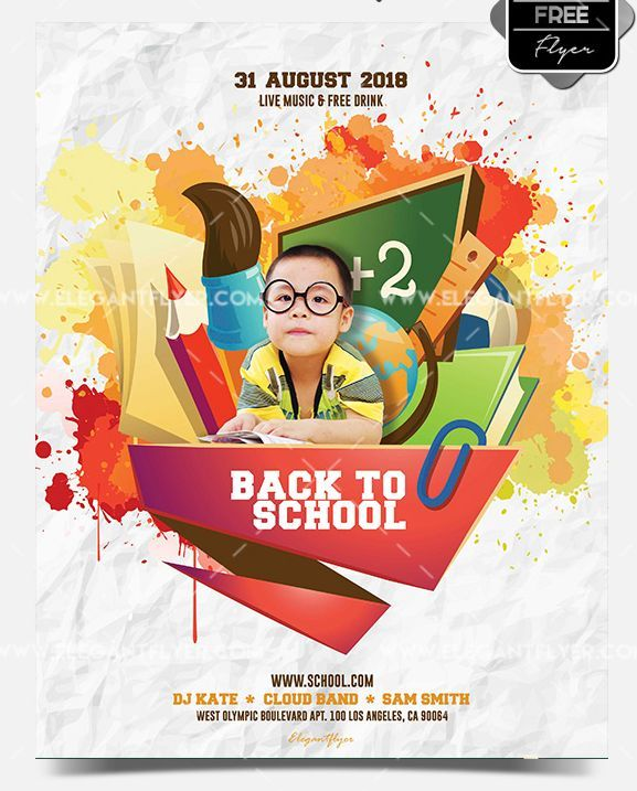 16 Free Back To School Flyer Psd Templates Flyer Template Free