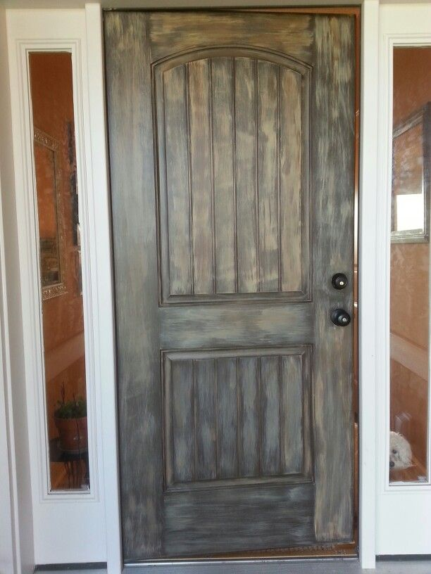 Faux Wood Paint On Our Front Door Painting Ideas