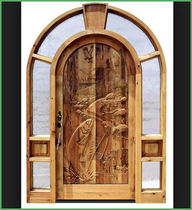 1000 images about rustic front doors on pinterest for Hand carved wood doors