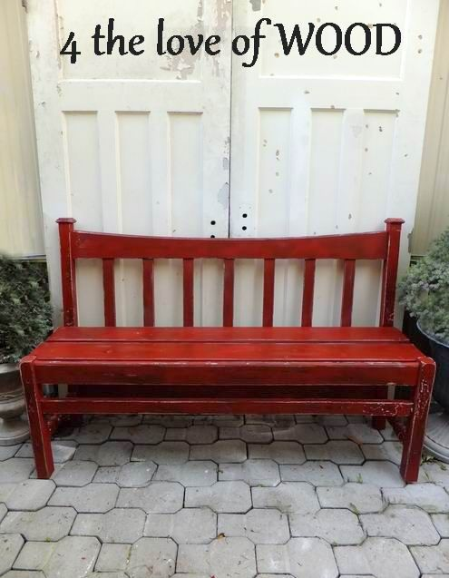 bench made out of bed frame: Bedframe Benches, Ideas, Wood Benches, Beds, Headboard Bench, Bench Built, Bedframes, Benches Made From Bed Frames, Woods