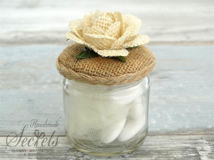 Μπομπονιέρα βαζάκι λουλούδι