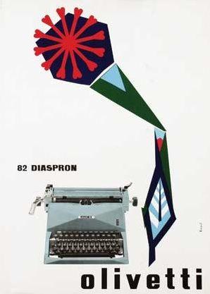 Olivetti 82 Diaspron Poster, Designed by Marcello Nizzoli, 1959