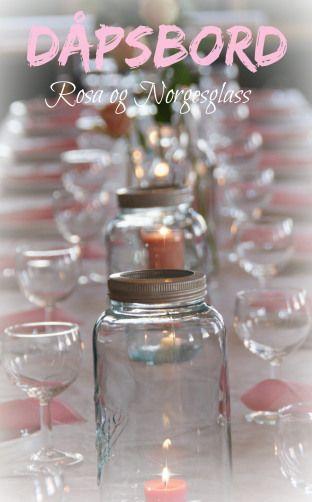 Pynt festbordet med Norgesglass - enkelt og dekorativt.
