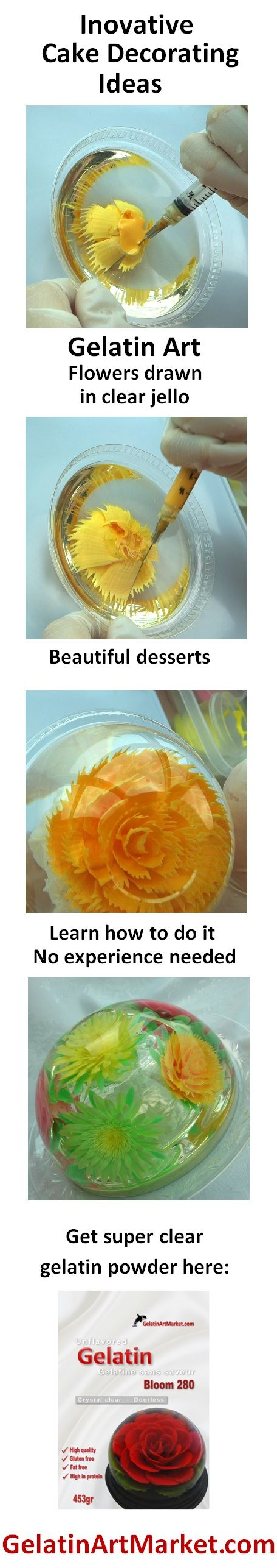 Creative Cake Decorating Ideas - Gelatin Art Jelly Flowers