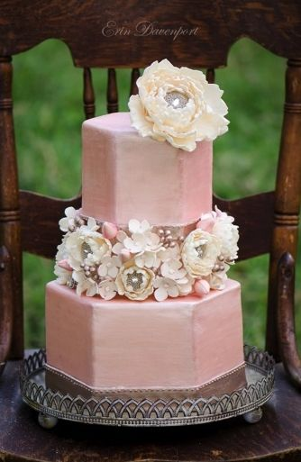 fondant, pink, romantic , silver, wedding cakes, white, paisley, shabby chic, vintage