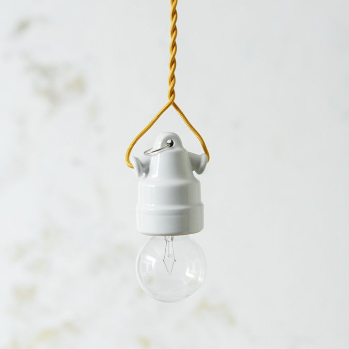 オリジナル裸電球ランプ・セラミカ/ホワイト | コードで印象を変えよう | オルネドフォイユWEBショップ
