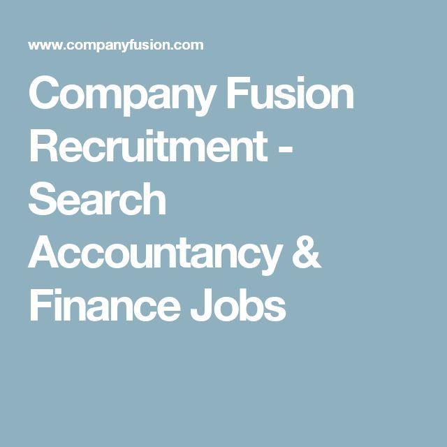 Company Fusion Recruitment - Search Accountancy & Finance Jobs
