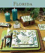 Florida leaf plates and napkins