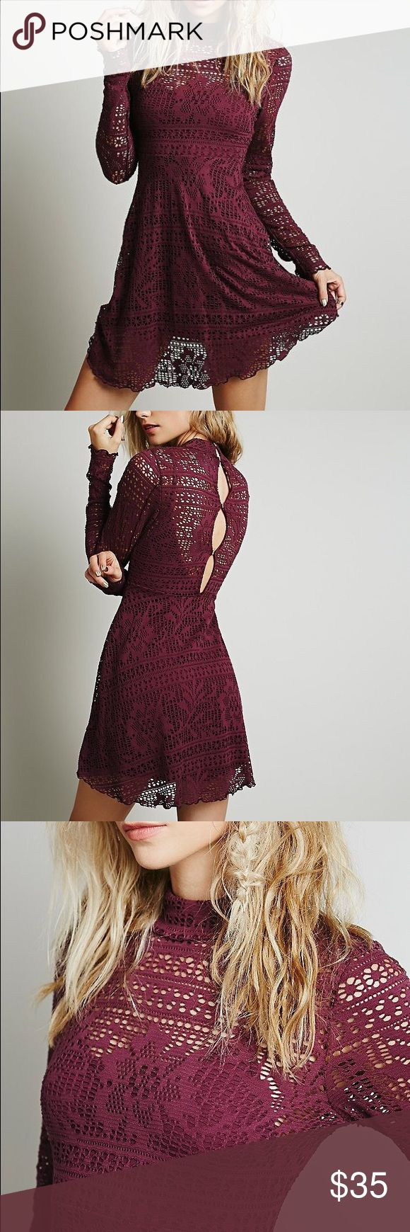 Free People dinner date dress Free People dinner date dress in deep purple. 2 piece set can also be worn separately Free People Dresses Mini