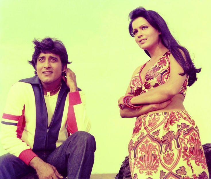 Zeenat Aman with vinod Khanna