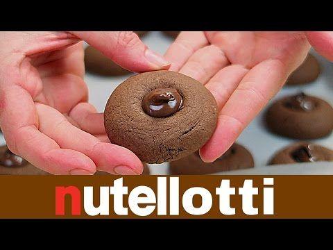 NUTELLOTTI FATTI IN CASA DA BENEDETTA - Homemade Nutella Truffles Cookies - YouTube