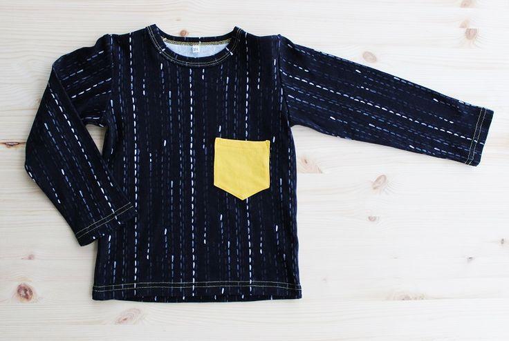 "This shirt ""Ikkunasade/Rain on window"" is GOTS-sertified 100% organic cotton, made in Finland. Design by Kristiina Mäkimattila/ Murupumpula"