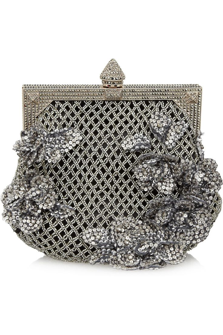 Beaded Satin Clutch by Valentino