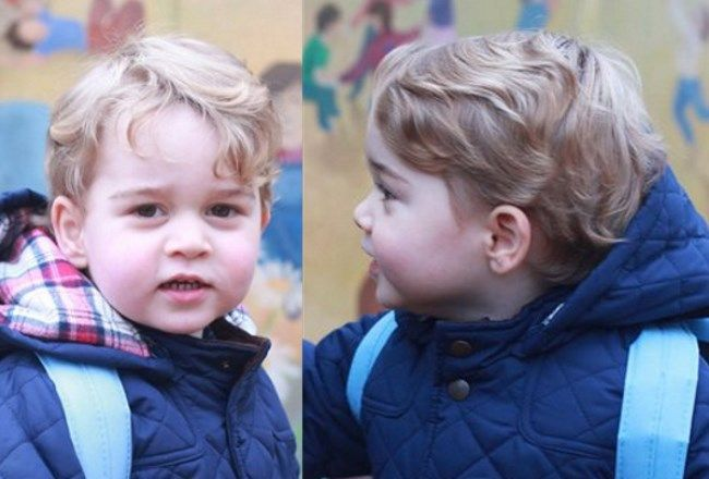 duchesskate:  Prince George began his first day at Westacre Montessori School, Norfolk, January 6, 2016, photo by the Duchess of Cambridge